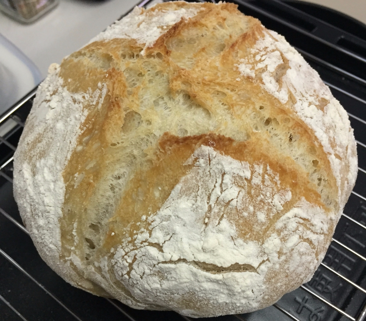 原味免揉麵包 Plain No-knead bread