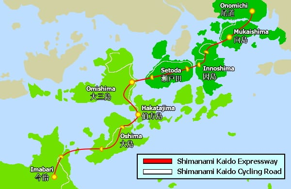 Shimanami Kaido Cycling Map