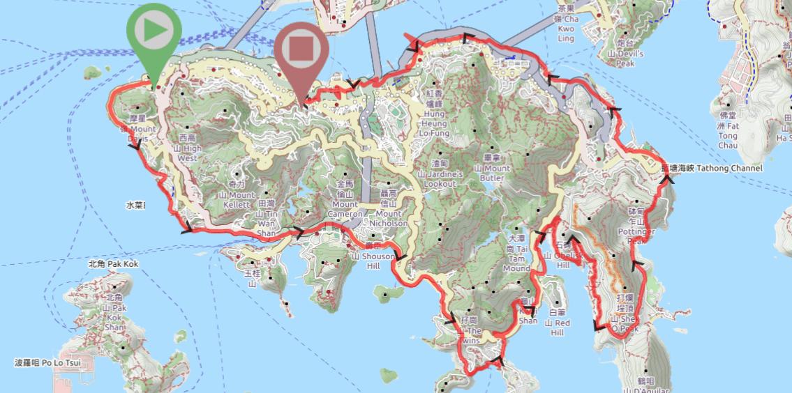 Hiking around the Hong Kong Island