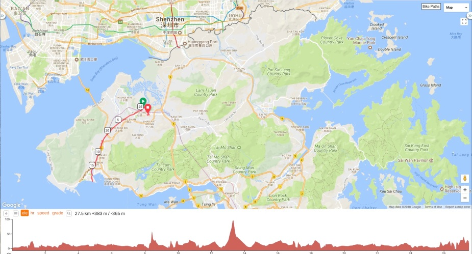 Cycling Route from Yuen Long to Tuen Mun (Total distance - 25 Km)