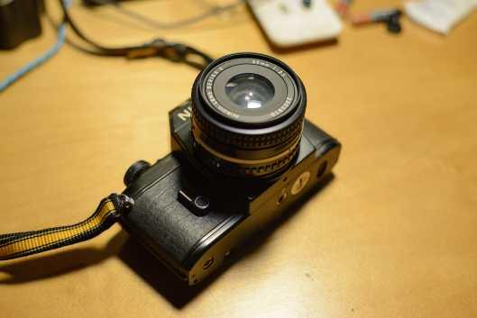 Nikon EM with 35mm/2.5 Series E Len