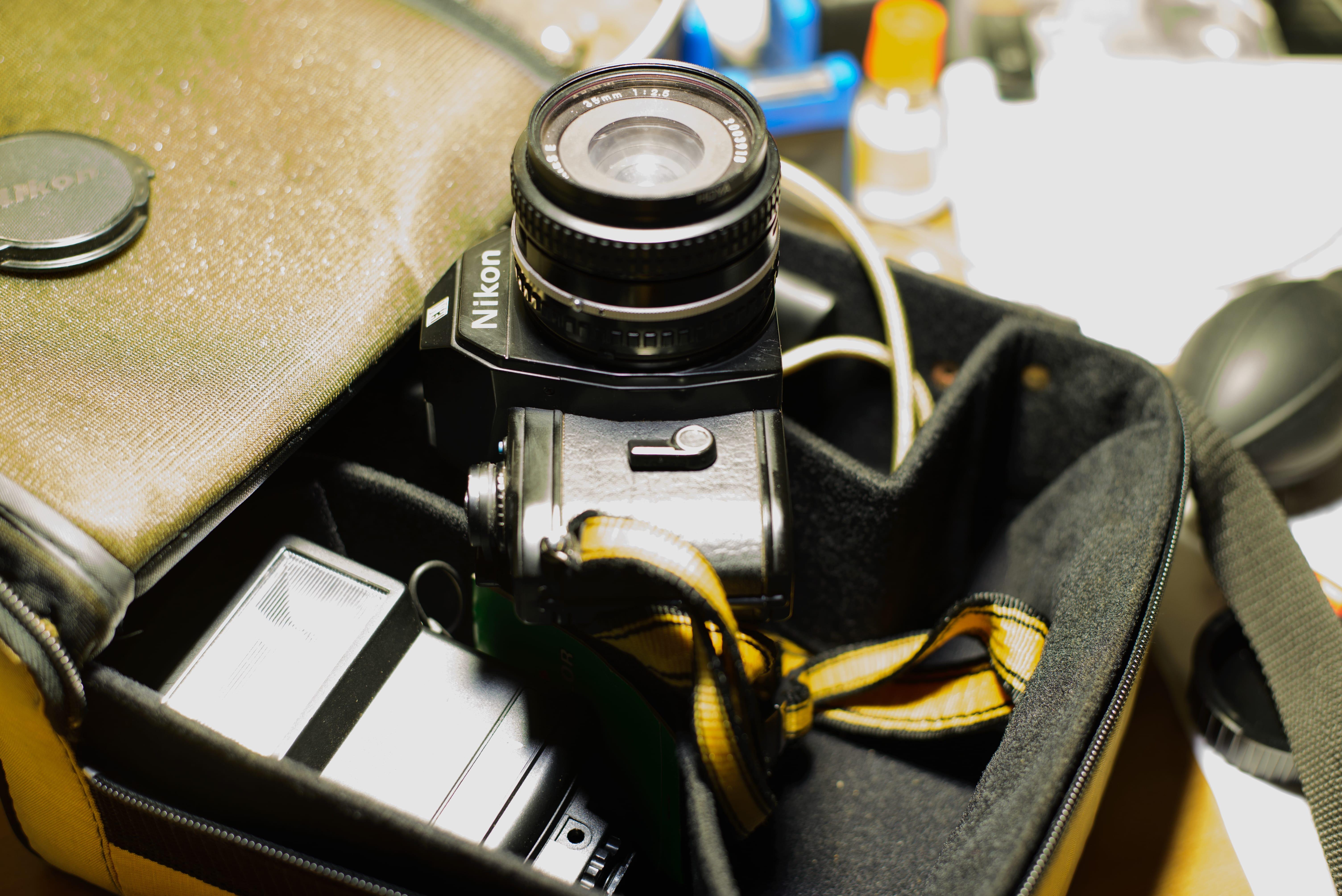 Nikon EM SLR & Nissin 26A Flash