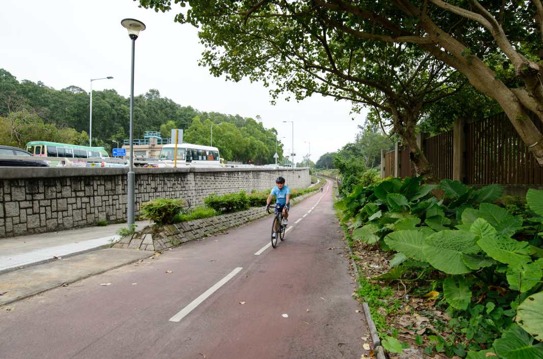 The only steep slope of the Shatin / Tai Mei Tuk cycling route