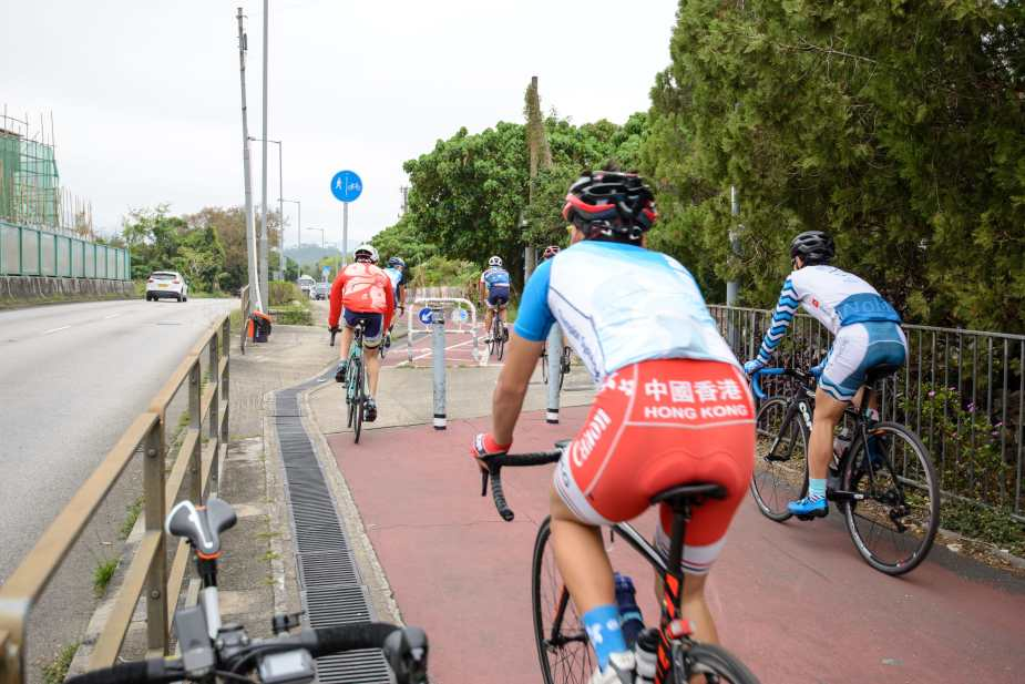 Hong Kong Cycling Team (Probably they are returned from their training in Luk Keng)