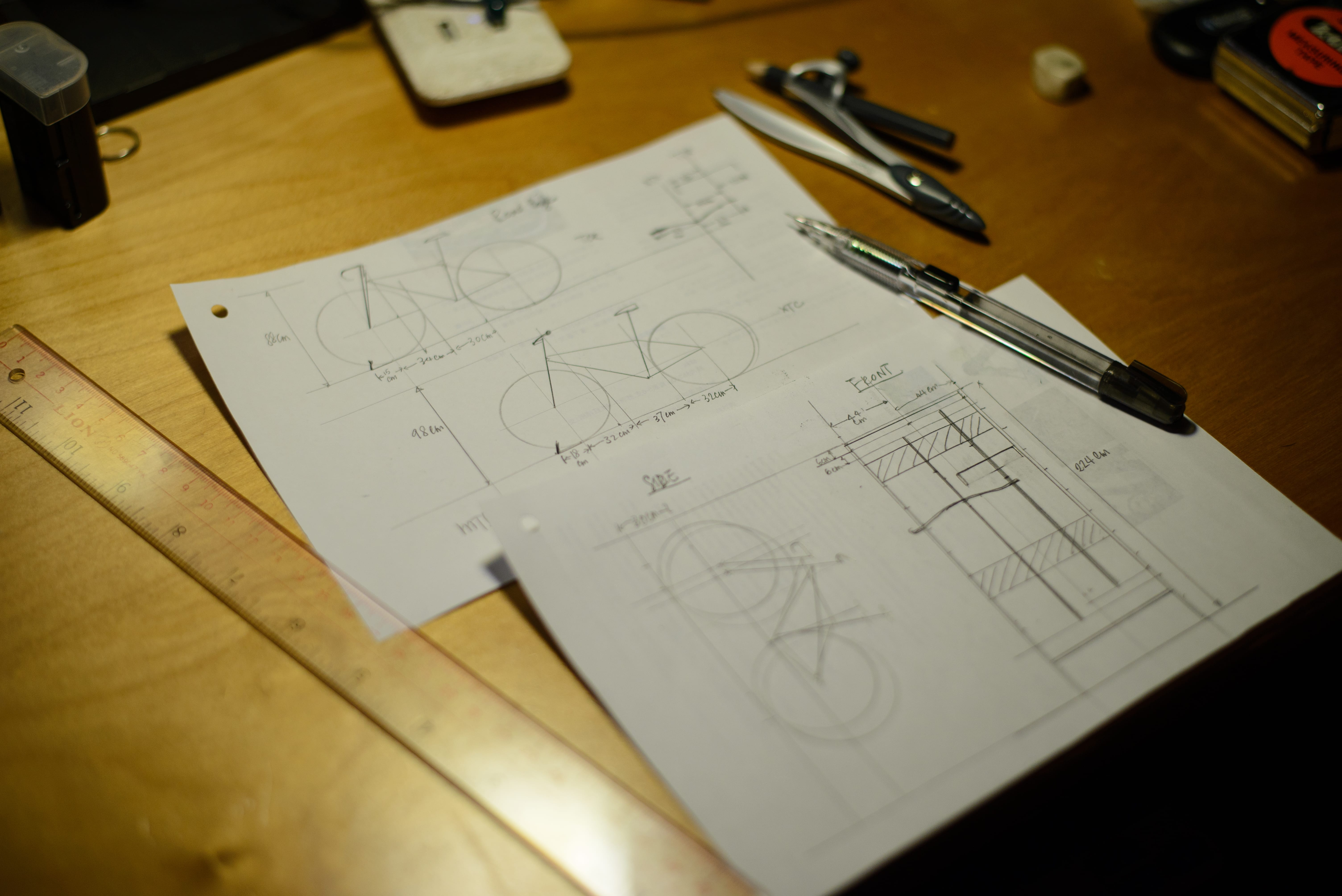 Draft design for the DIY Bike Rack