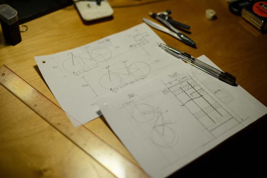 Draft design for the DIY Bike Rack