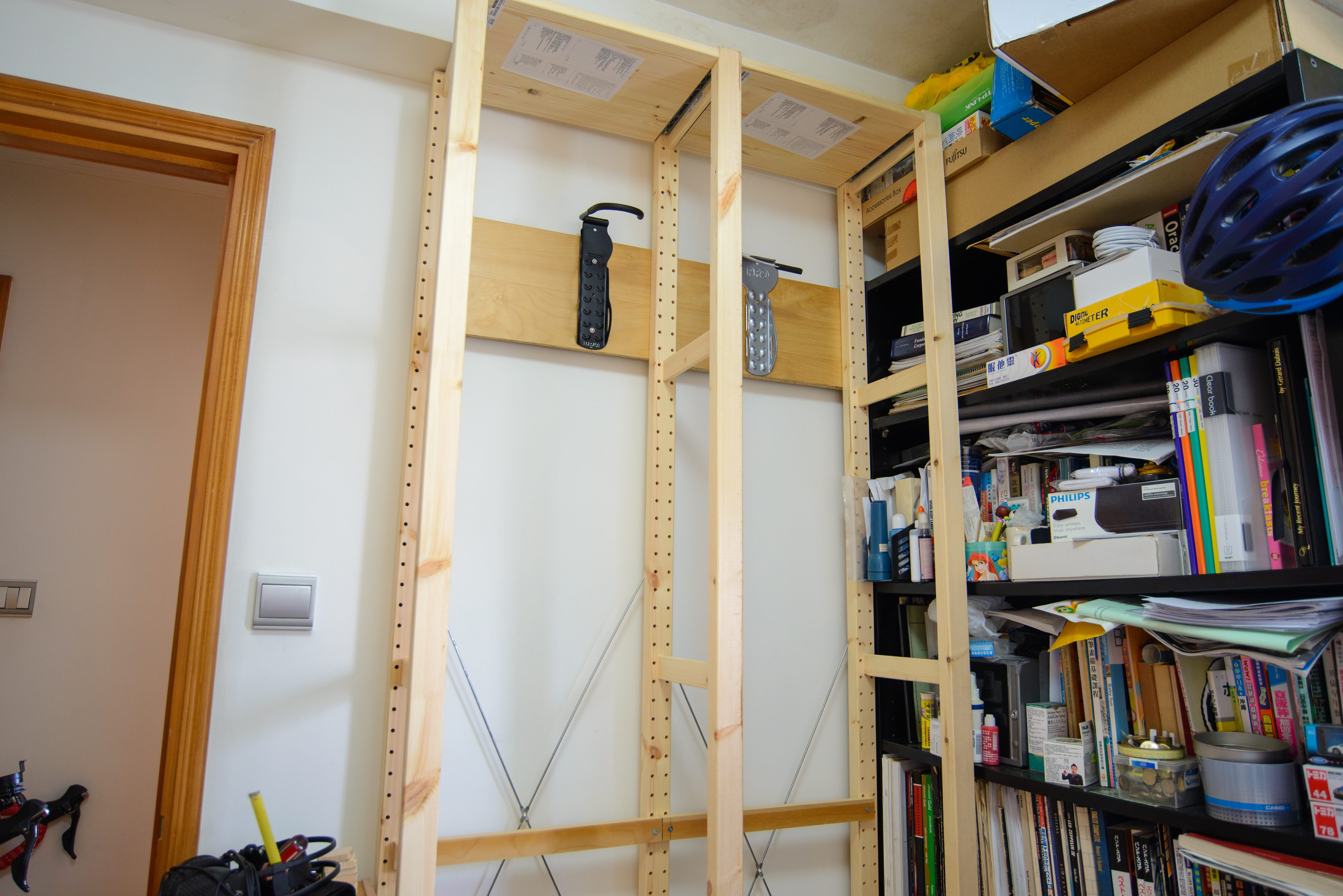DIY Bike Rack ready for the fine-tuning