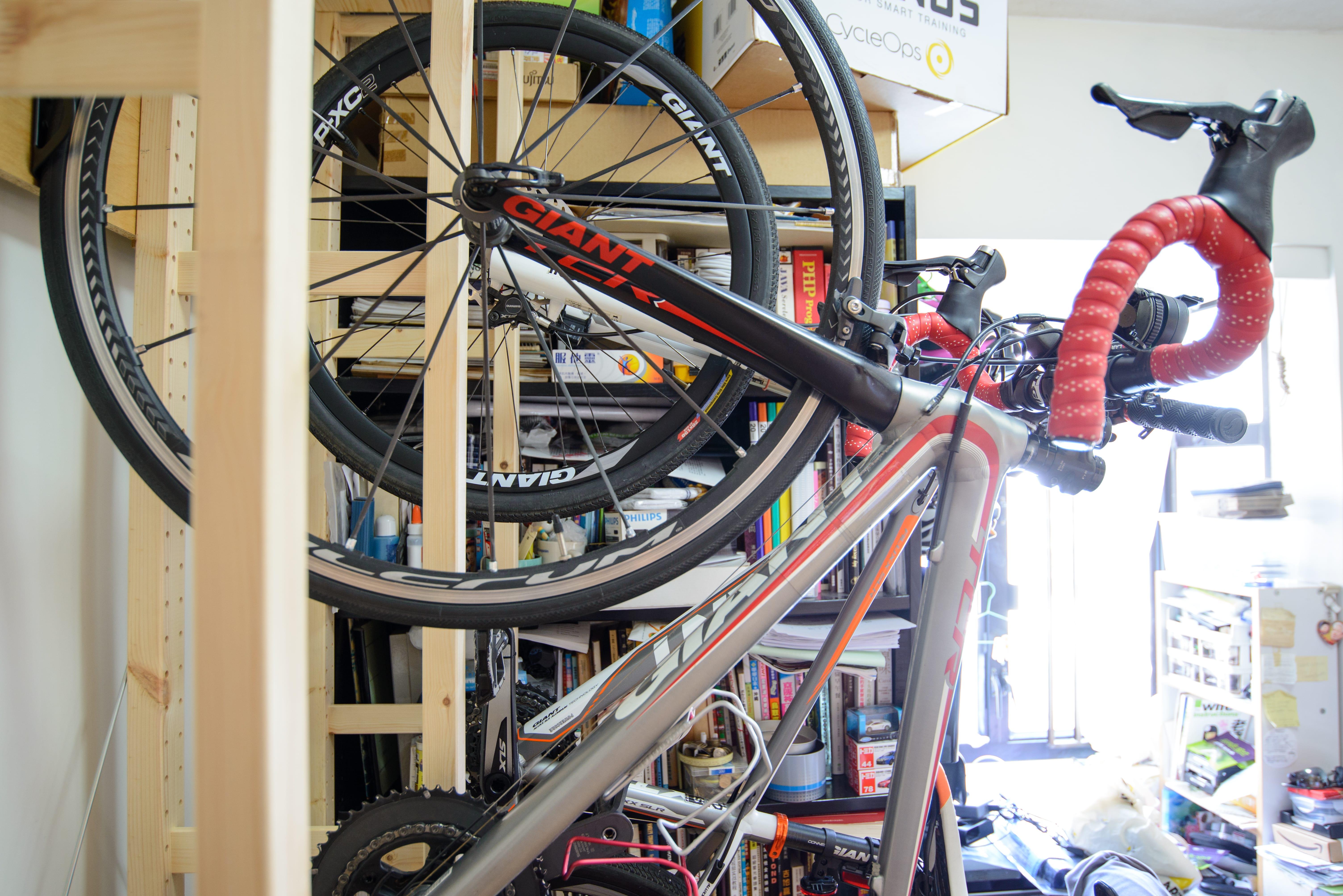 DIY Bike Rack - Side view