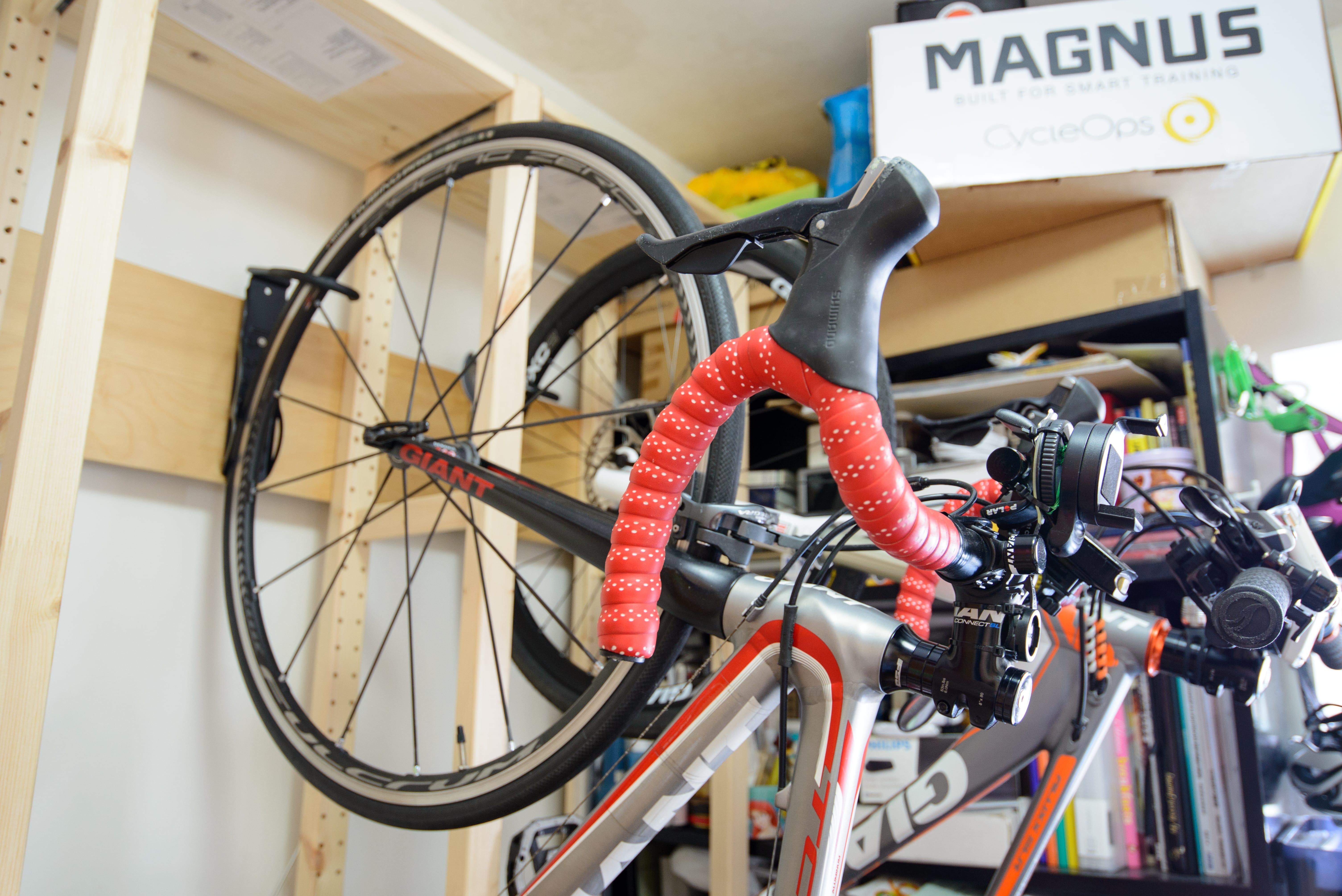 DIY Bike Rack - Close-Up view