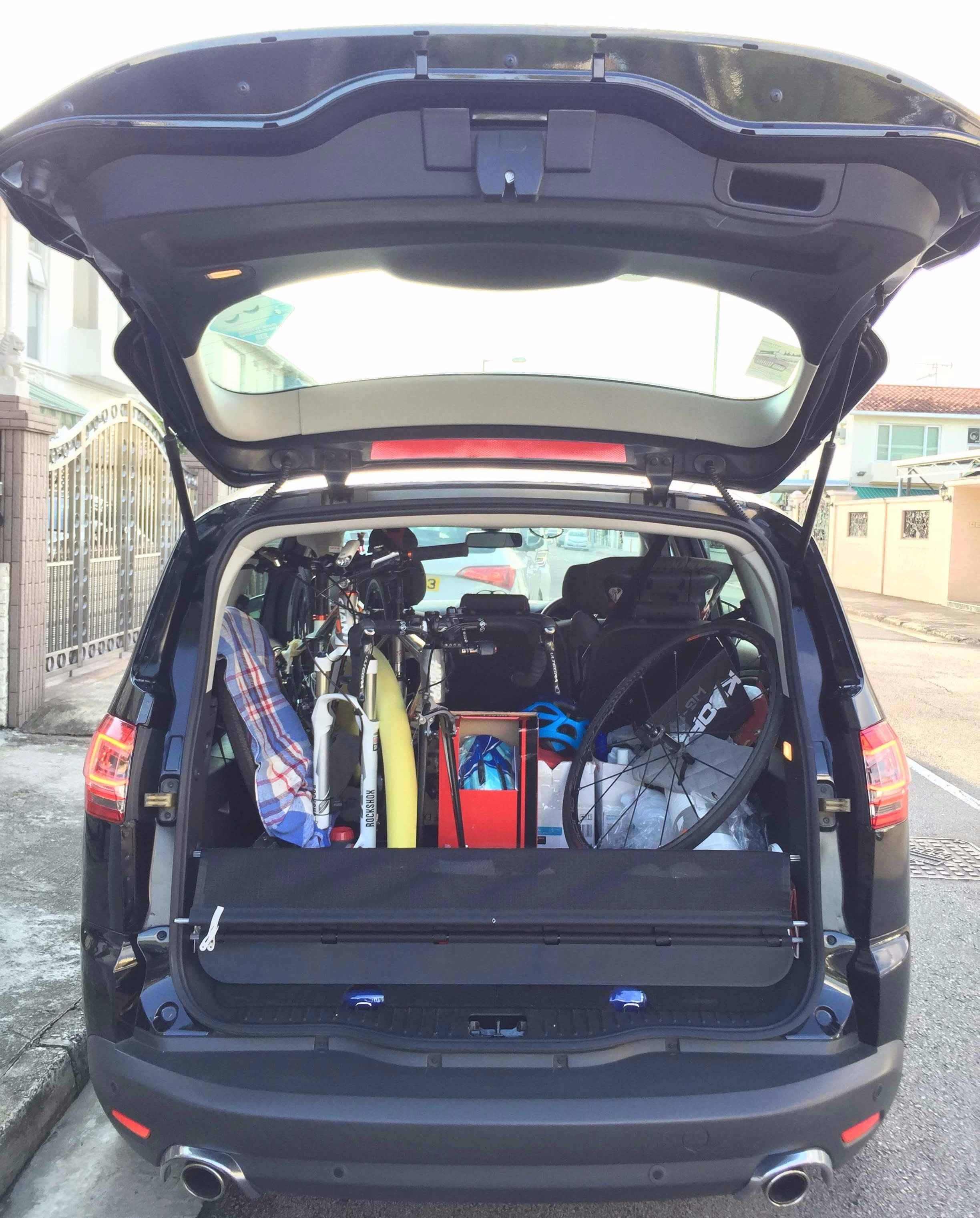 One Road Bike & One MTB in my 7-seat people carrier