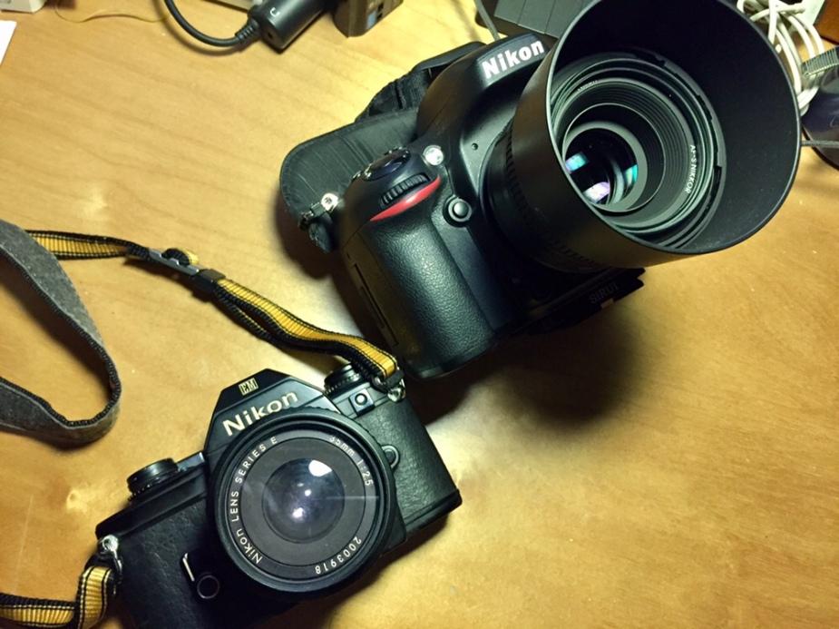 Nikon EM SLR & Nikon D610 DSLR
