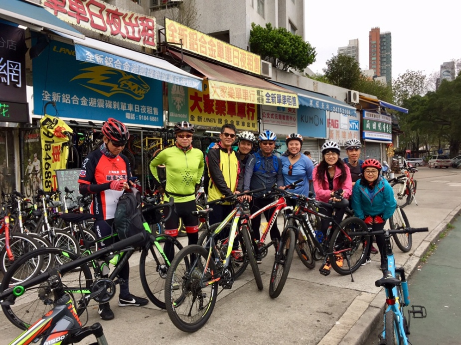 Team of happy riders readied for the fun ahead
