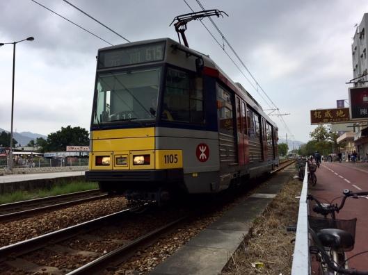 Light Rail Train (LRT) service linking Tuen Mun to Yuen Long