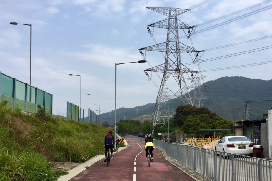 Bike path next to the Fanling Highway