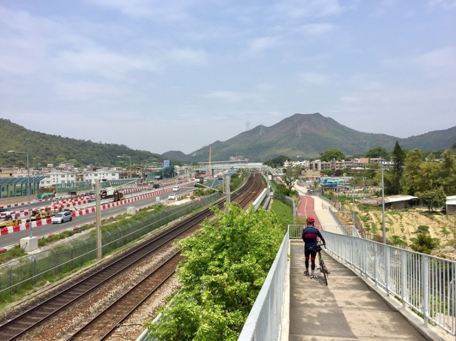 Hong Kong East Rail next to Tai Wo Service Road East