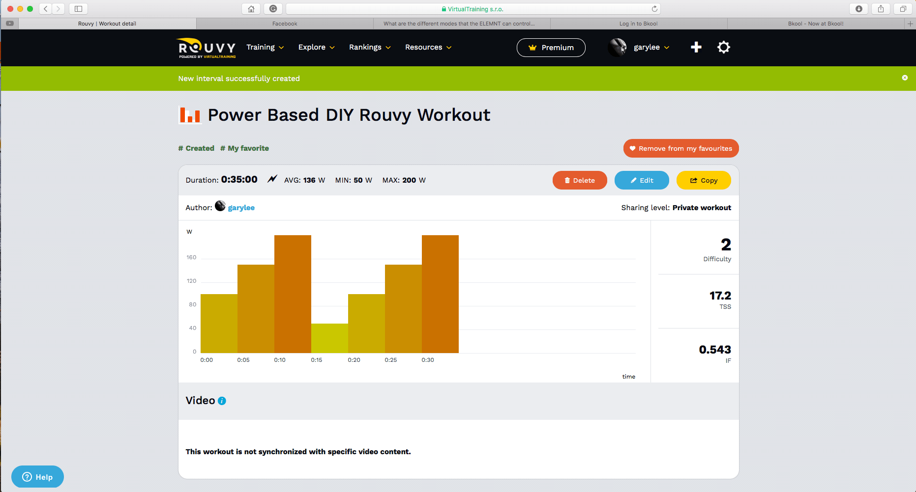 Rouvy Training - Workout creation