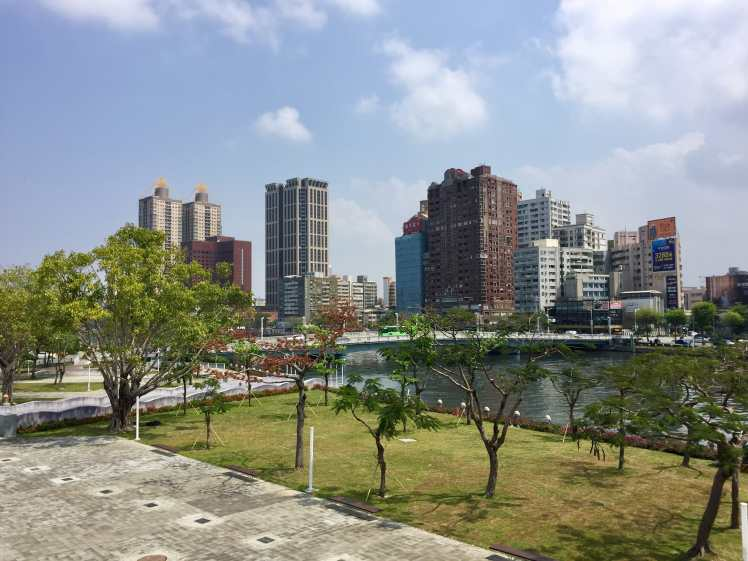 Kaohsiung city area along Love River and part of the Dayi Park