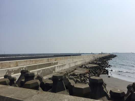 Kaohsiung Hongmaogang Culture Park is on the opposite side of the shore