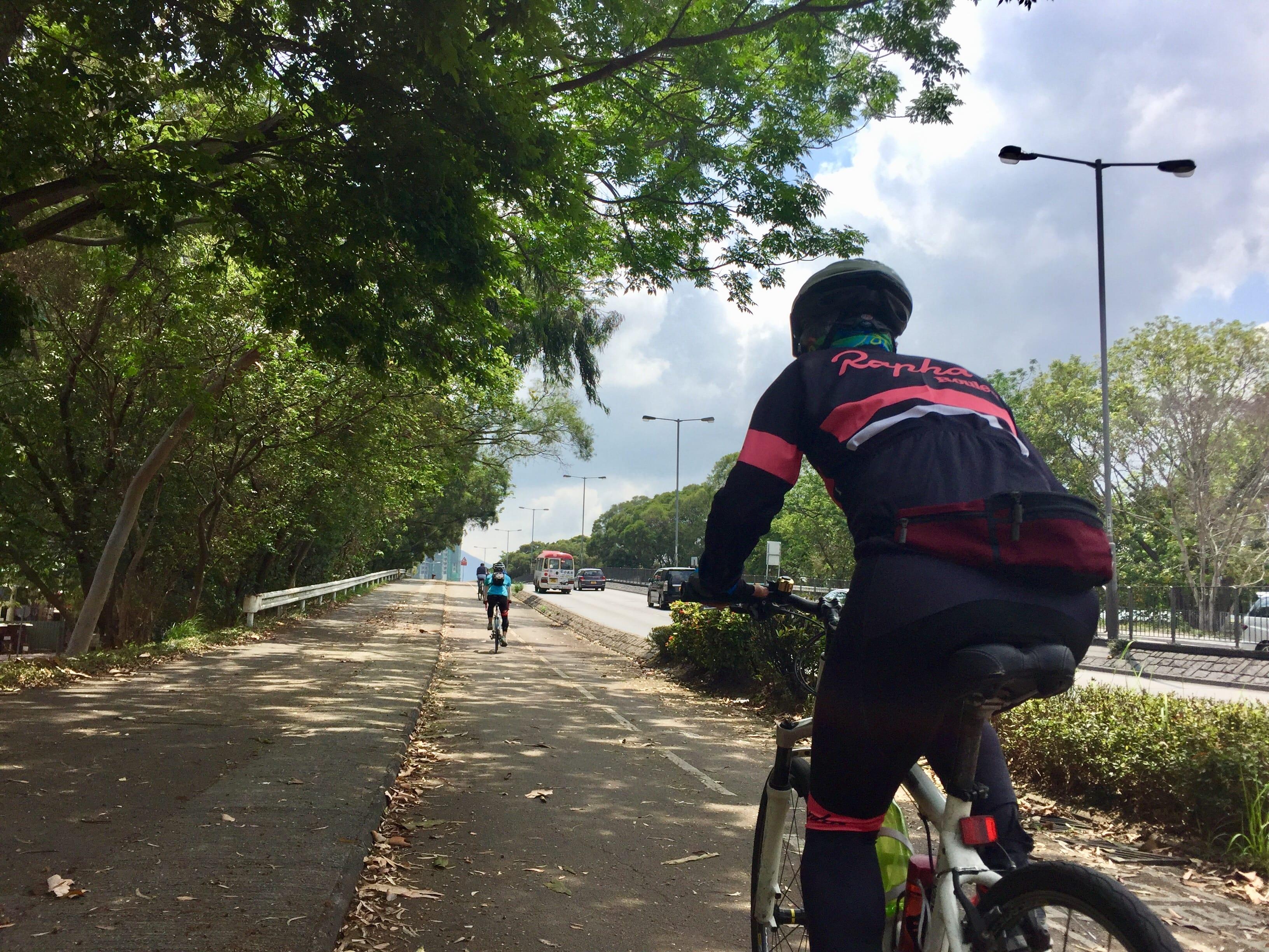 Short climb near Po Shek Wu Road (over the railway)