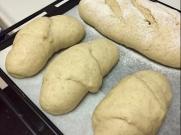 Three ugly bread rolls