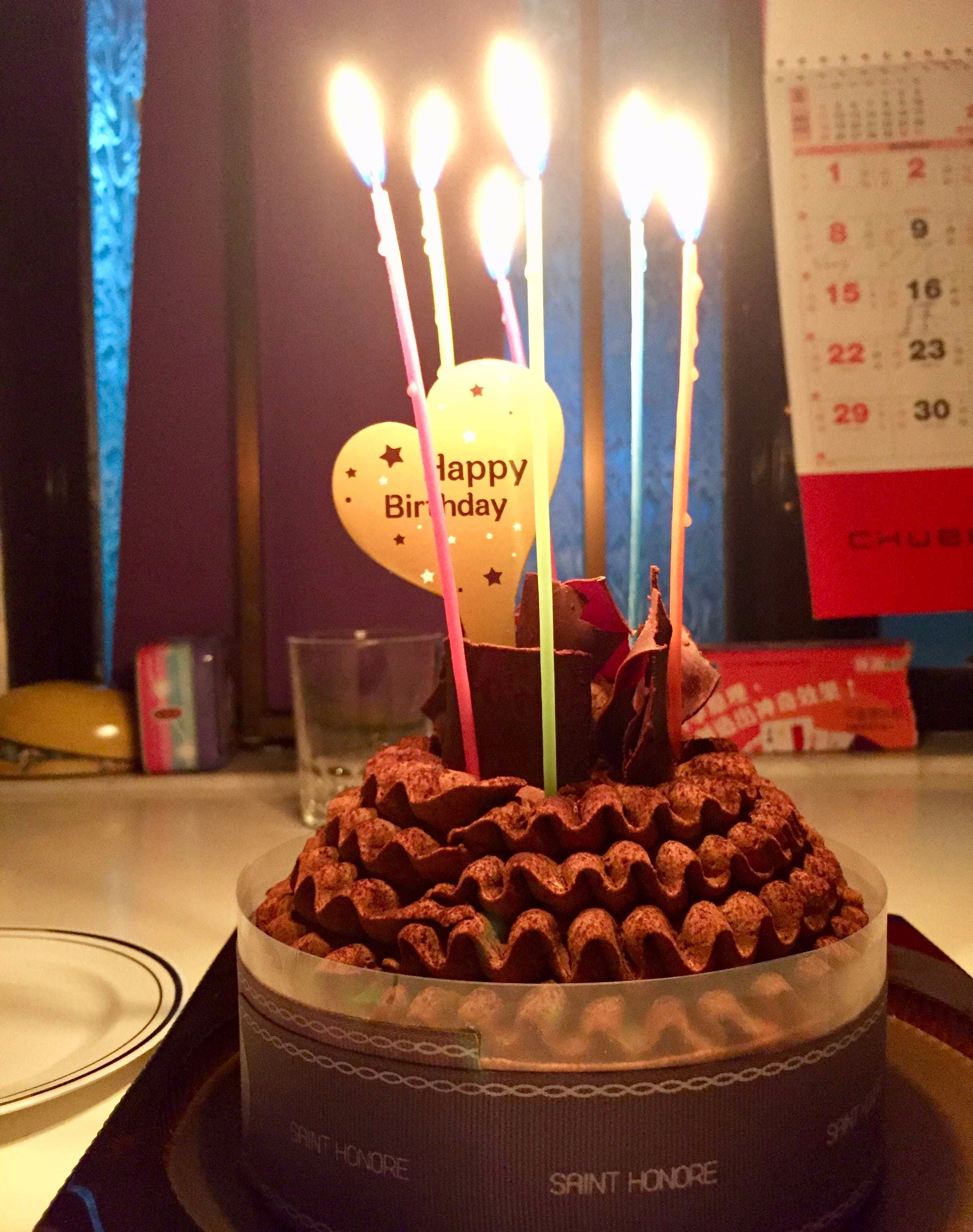 Molten-Chocolate Birthday Cake