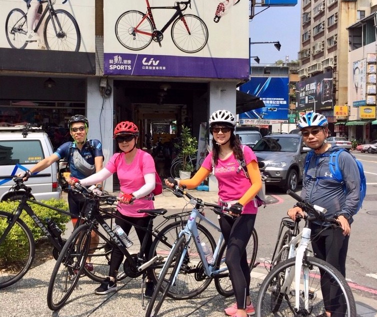 Ready for the cycling trip at Giant Oya Bike Shop, Kaohsiung
