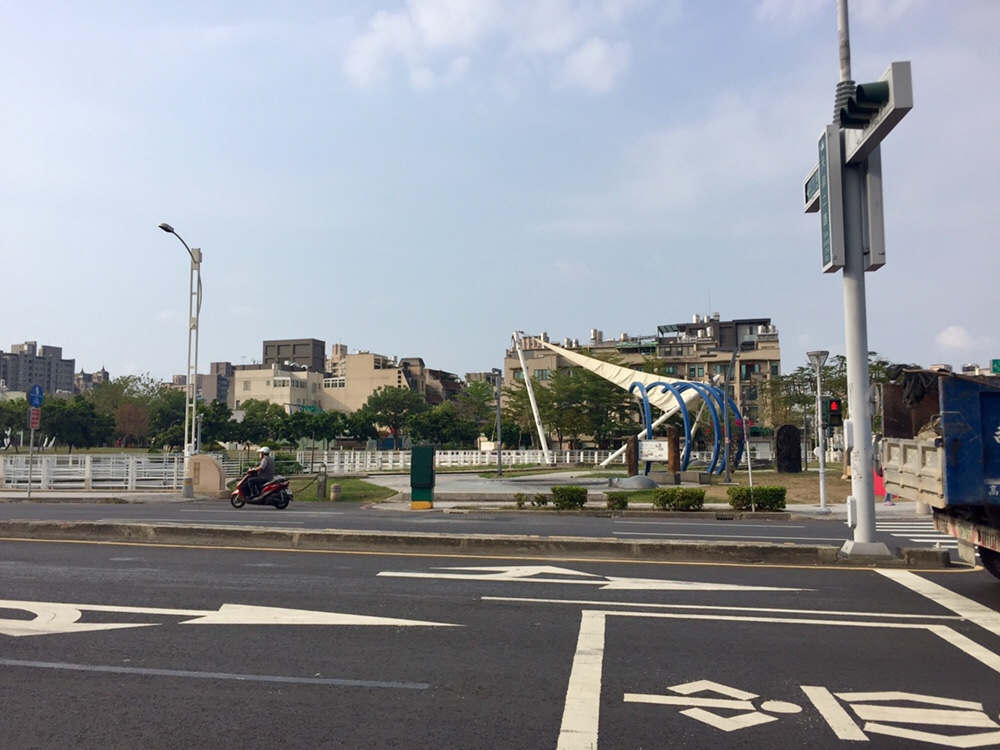End point of the Love River Bike Path - Smile Park (微笑公園)