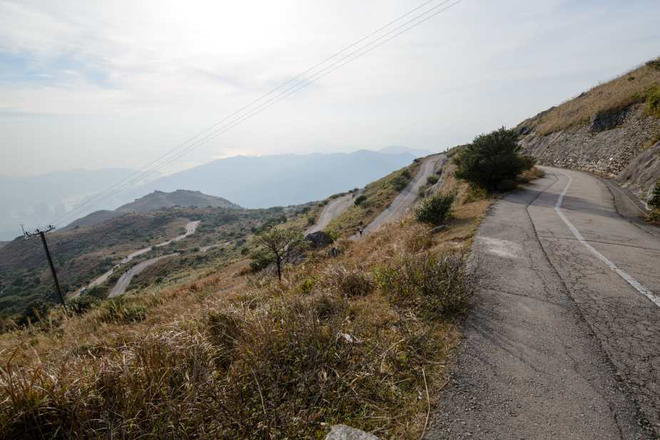 Hairpin Bends near the top of Tai Mo Shan