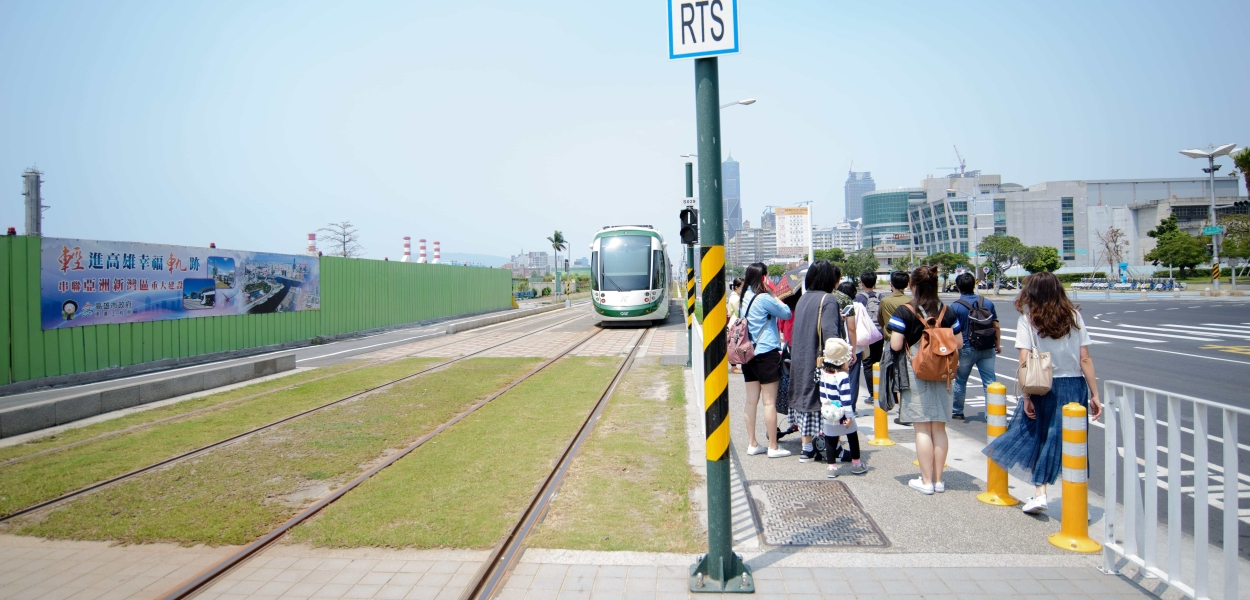 Kaohsiung LRT at the Dream Mall Station