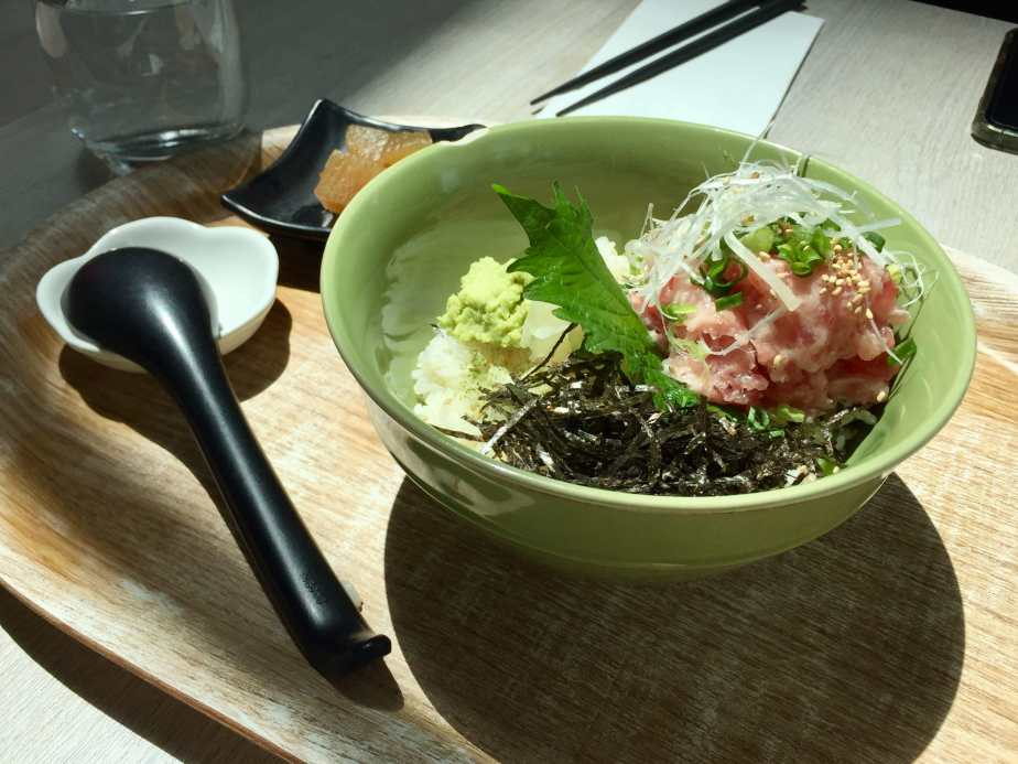 Tuna sashimi rice bowl for my lunch at Yayoi, Science and Technology Park, Hong Kong