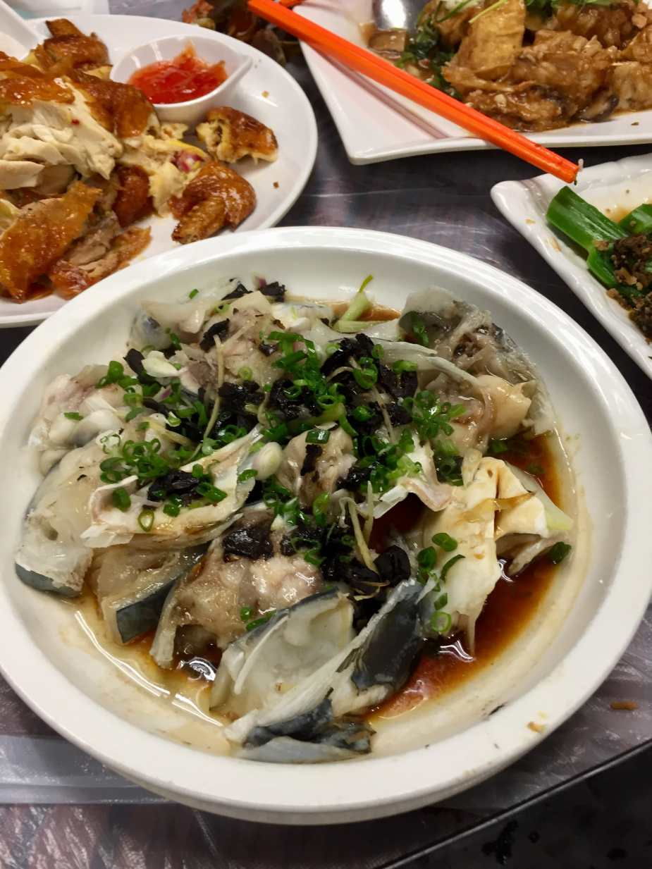 Fish head steamed with Garlic and Black Bean Sauce
