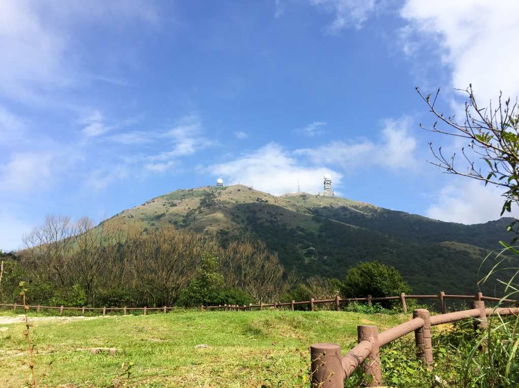 Weather Radar Station as seen near Tai Mo Shan Lookout
