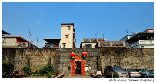 The Kat Hing Wai Walled Village in Kam Tin