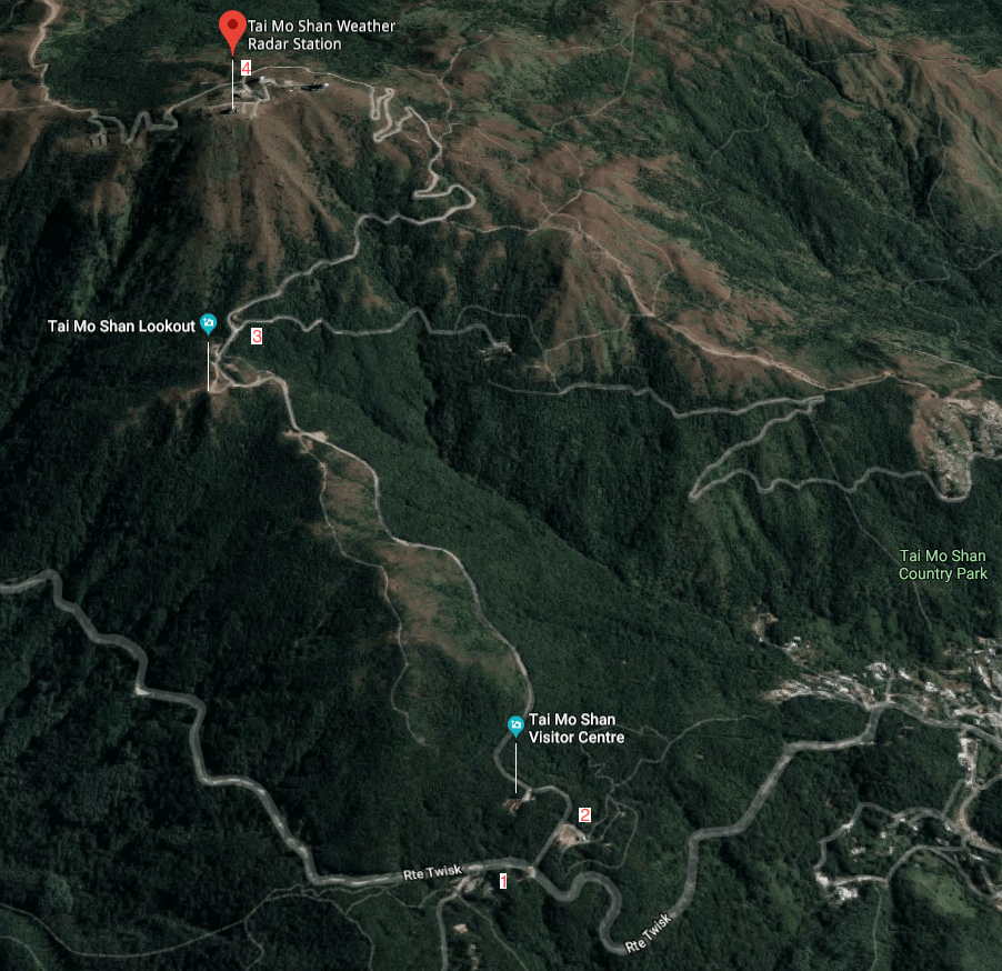 3D Map of Tai Mo Shan