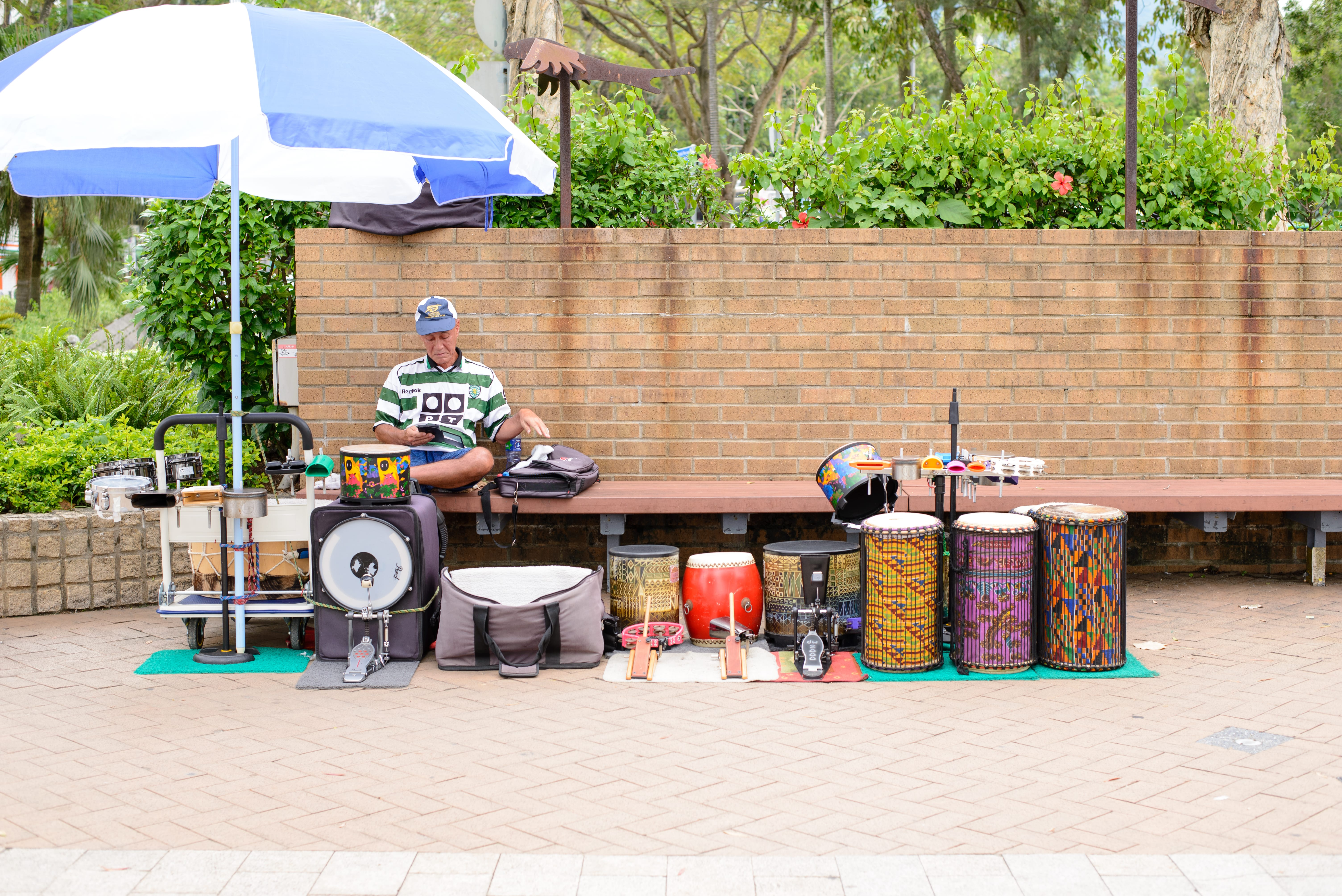 Full precussion set for kids to play