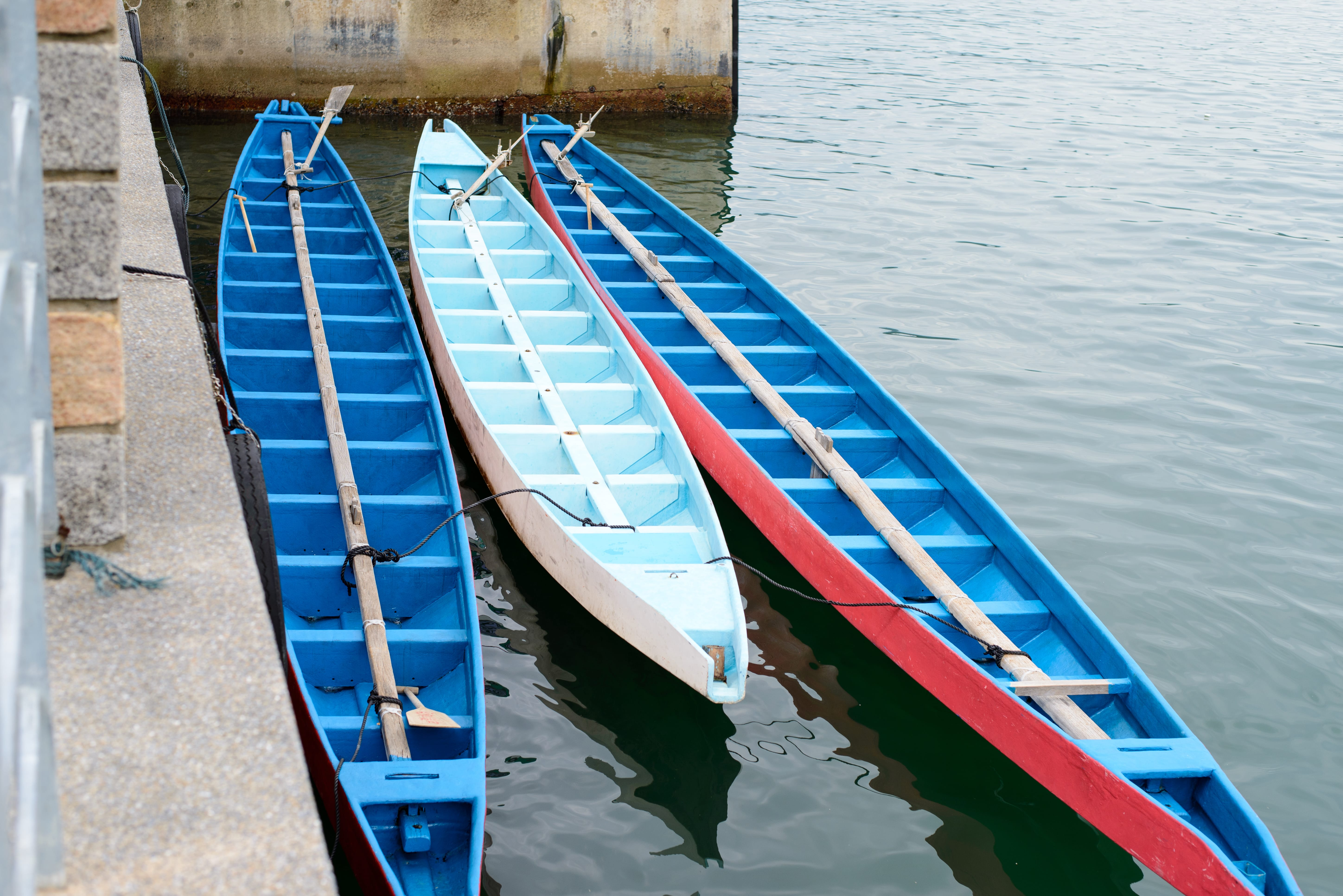 Dragon Boats with the head and tail not yet installed