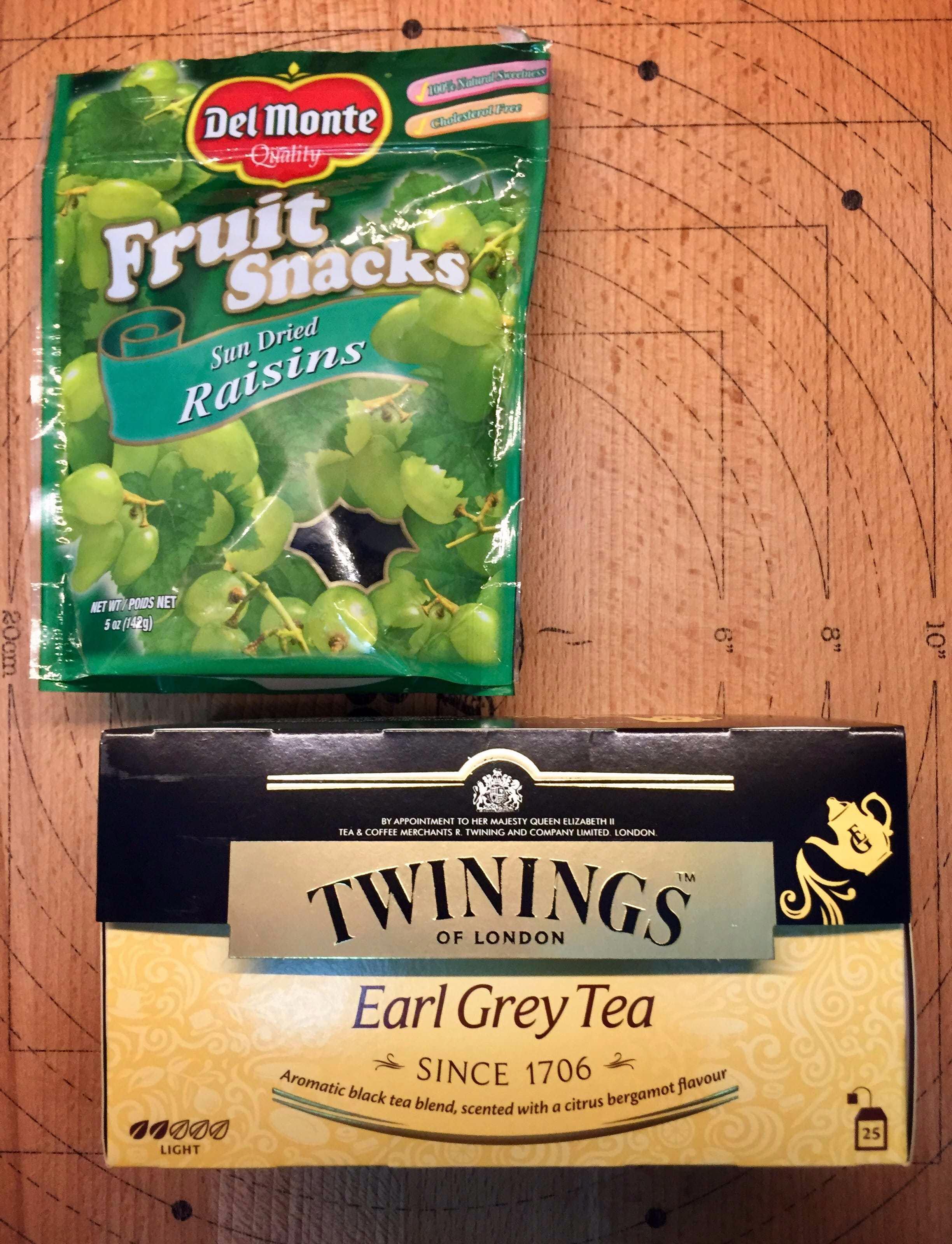 Raisins and Earl Grey Tea
