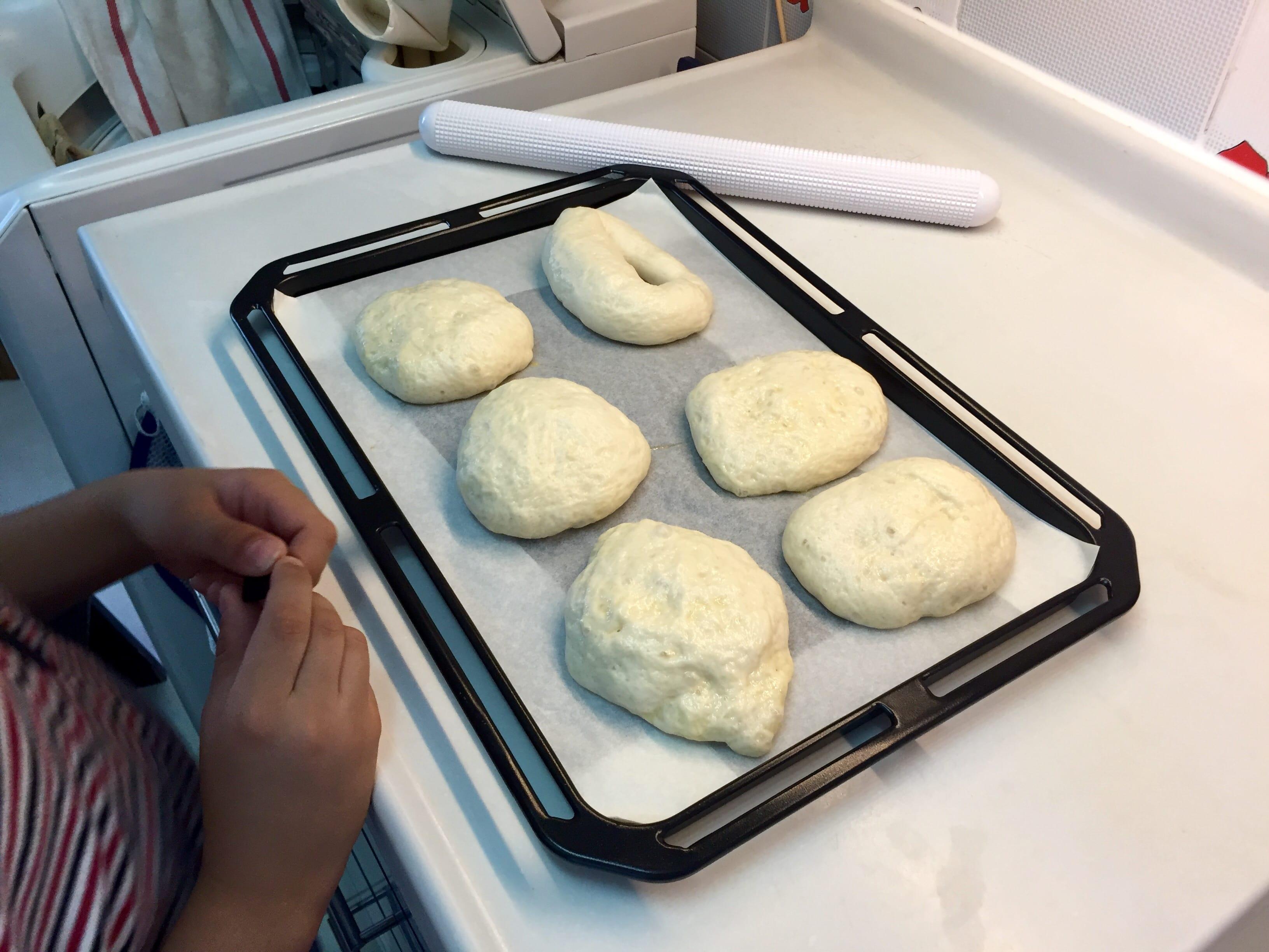 Bread ready for baking