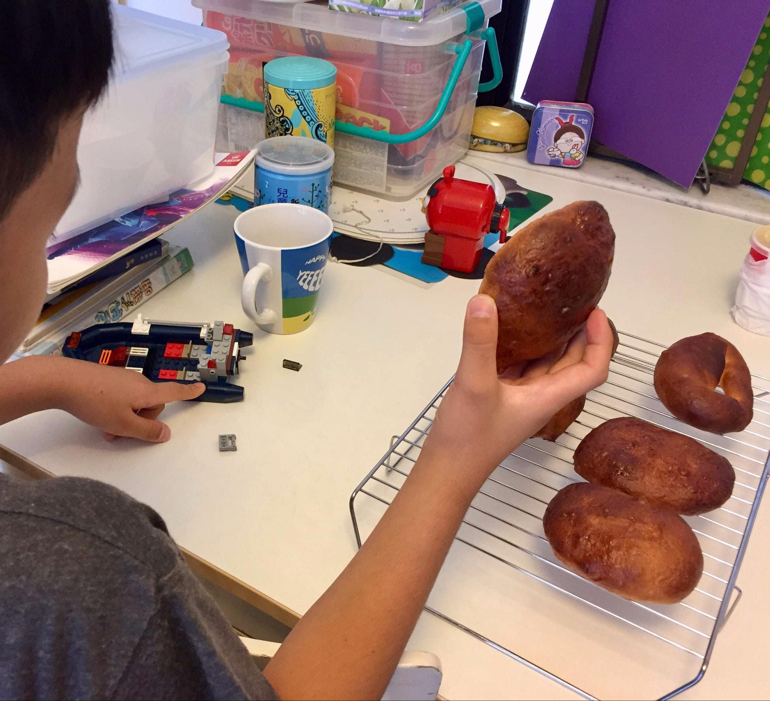 "My boy's ""Kite"" bread"