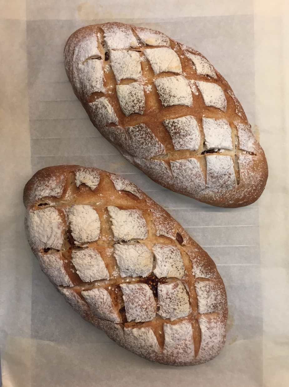 Two loaves of Fig Bread - ready to be served