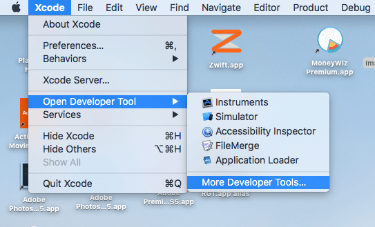 Download BlueTooth Explorer from Xcode developer tool
