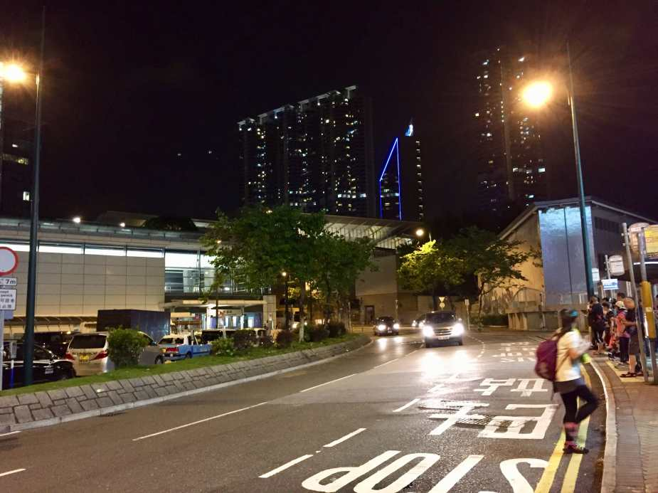 Waiting for Bus E11 at Tung Chung to go home