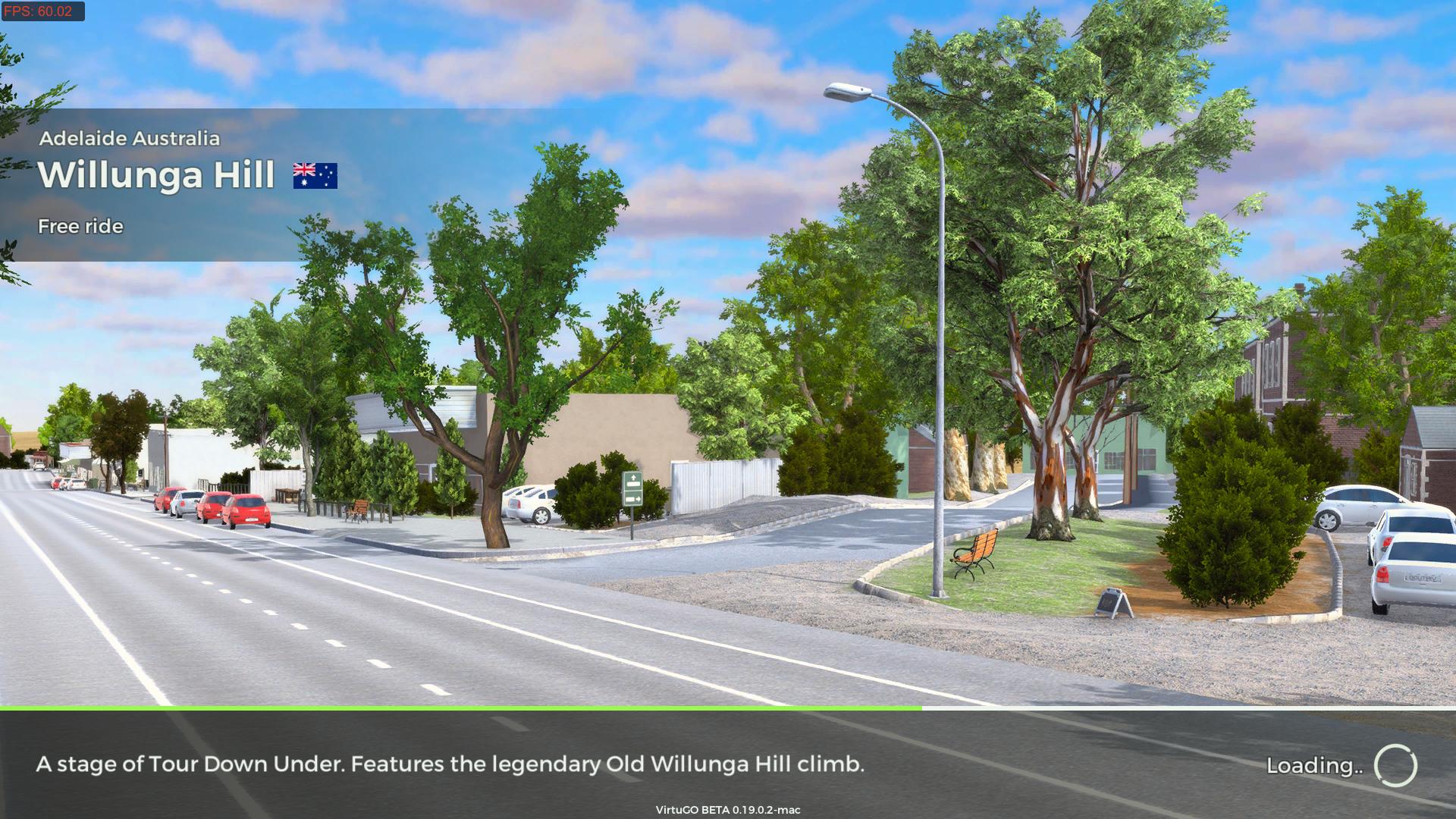 VirtuGO Free Ride on route Willunga Hill