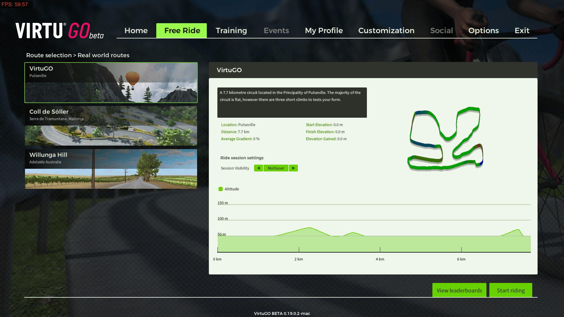VirtuGO Beta Free Ride Route 1 - VirtuGO (7.7 Km)