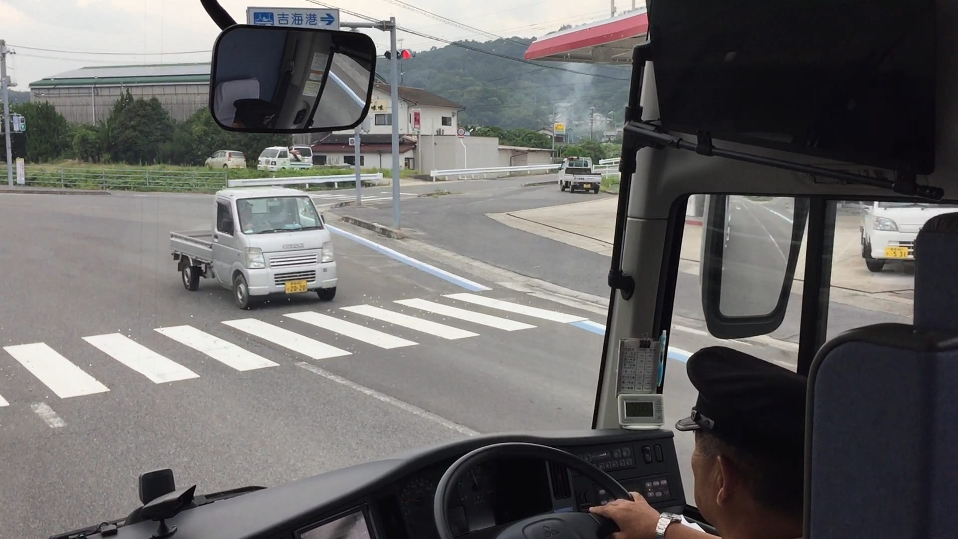 Boarding the bus back to JR Imabari Station