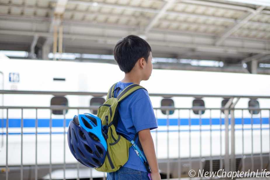 Boy awaiting his new challenge - Shimanami Kaido