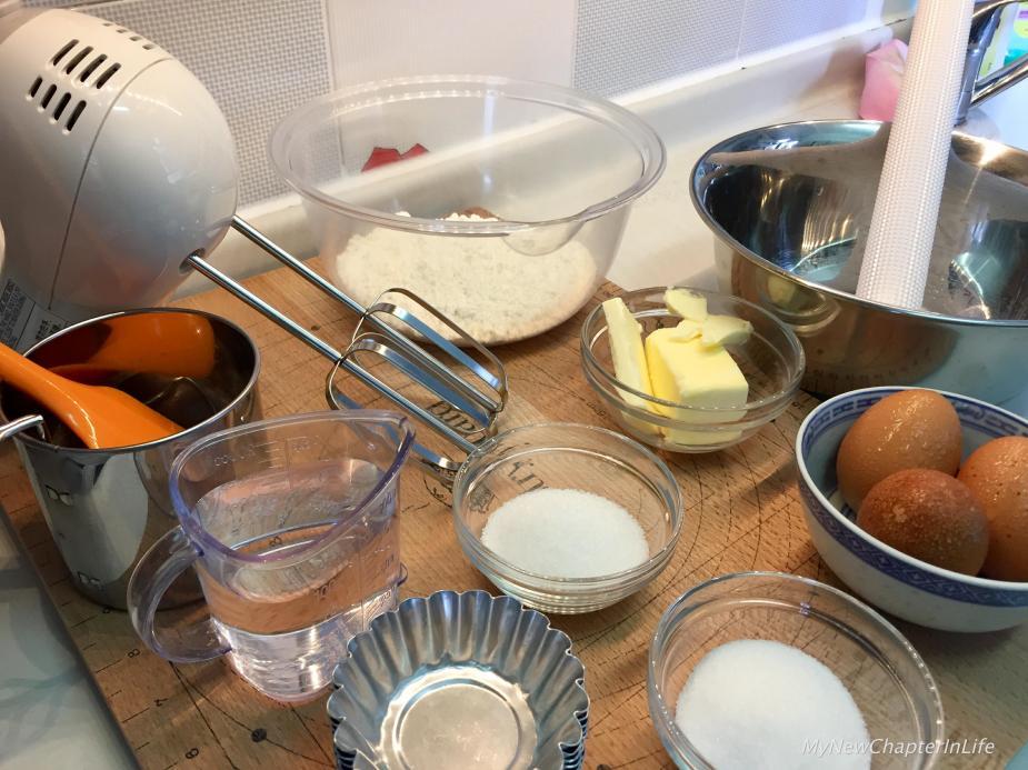 Ingredients of Egg-Tarts