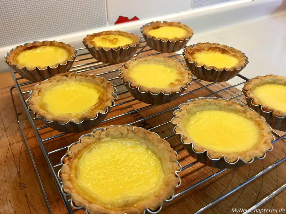 Egg-tarts ready to be served
