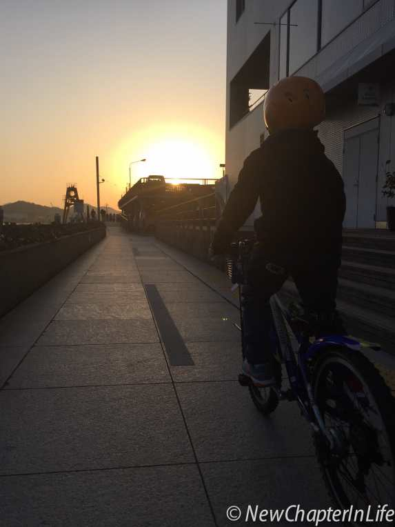 Chasing the sun - hurry up to return our bikes