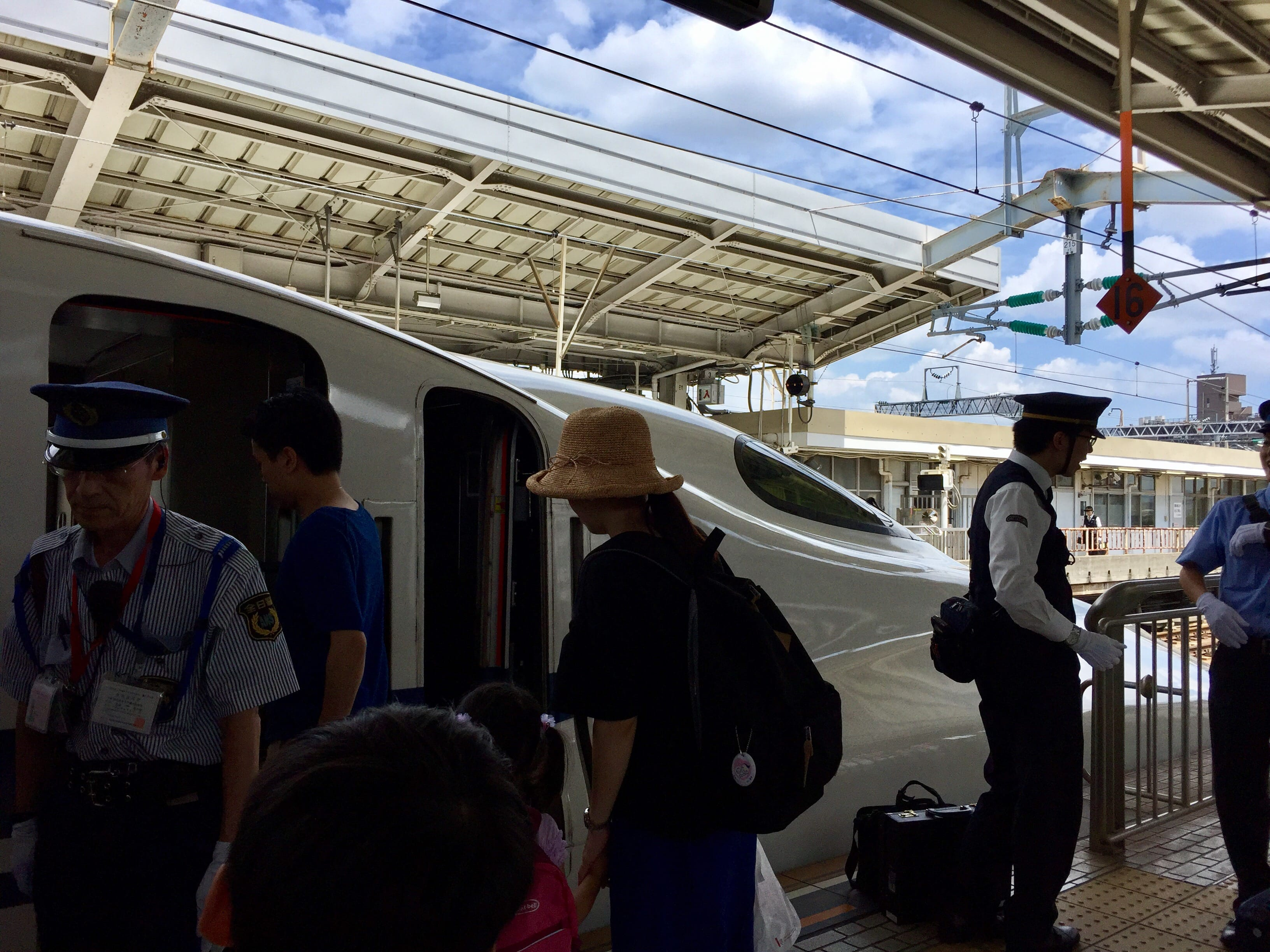 Boarding the Hikari from Shin Osaka Station to Fukuyama Station